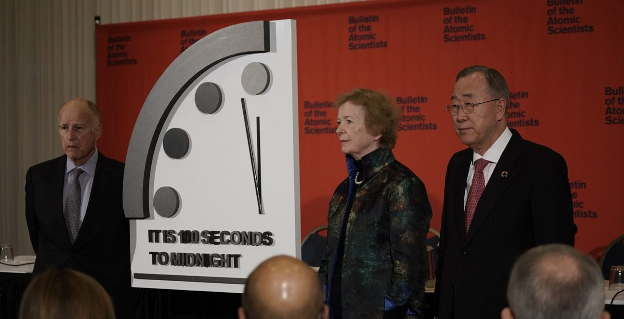 Message from the Elders – The Elders unveil the Doomsday Clock: it is now 100 seconds to midnight