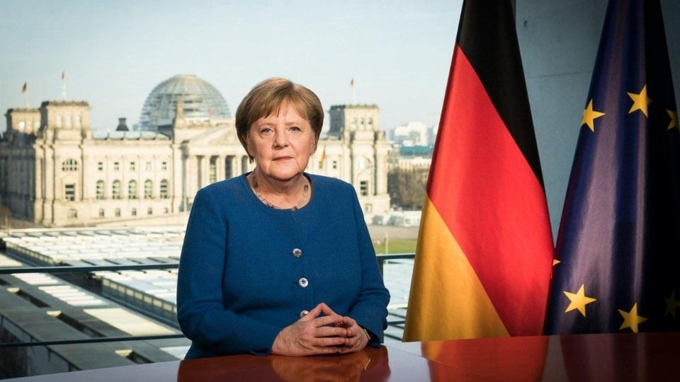 Forbundskansler Angela Merkel har i dag ledet CDU i 20 år
