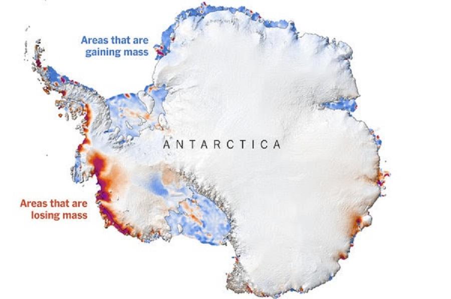 Isen på Sydpolen smelter – havet stiger