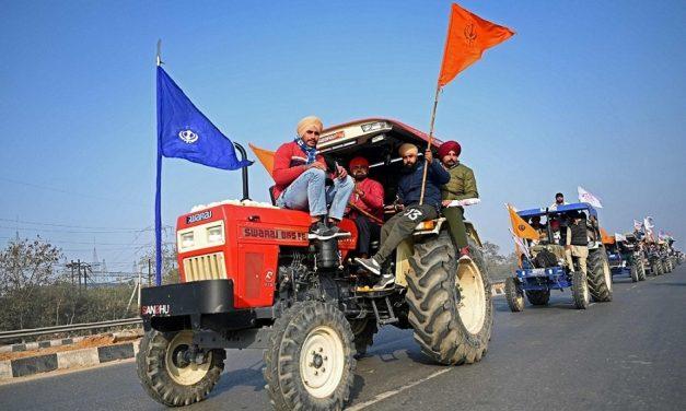 Indiske bønder protester mot nye landbrukslover