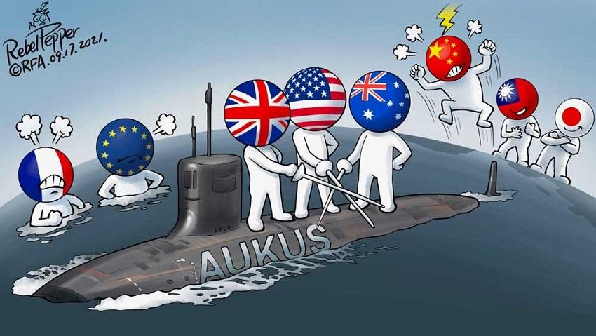 AUKUS versus forsvarsalliansen mellom Frankrike og Hellas